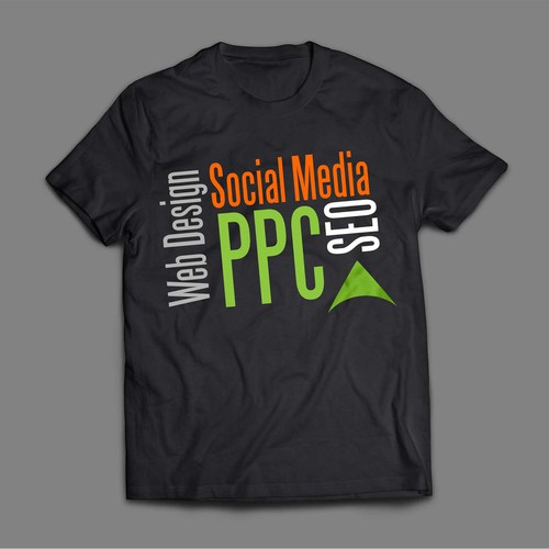 Trendy t shirt design for internet marketing company t for T shirt advertising business