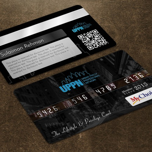 BLACK MEMBERSHIP CARD - Front & Back | Business card contest