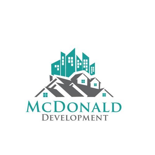 Real Estate Development Logo : Innovative commercial real estate development logo design