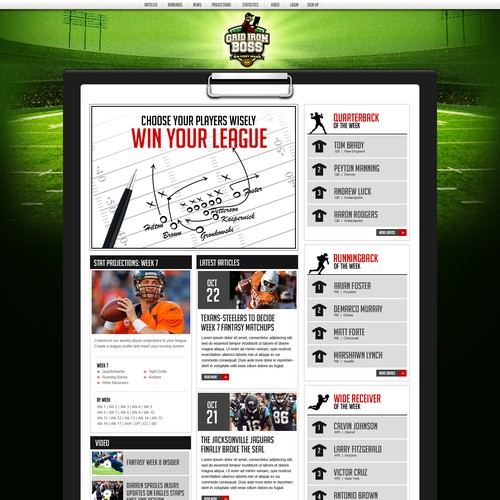 Development of fantasy football website