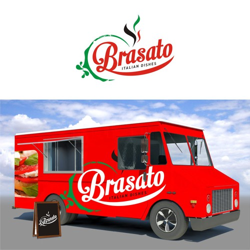 Cool logo for gourmet italian food truck business logo for Cool food truck designs