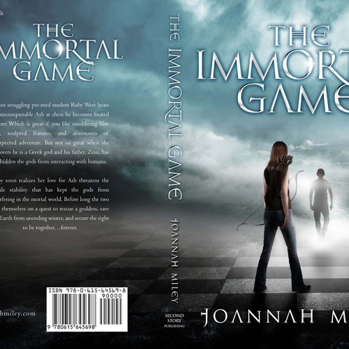 Paranormal Romance Book Cover Design : Unique book cover for suspenseful paranormal romance novel