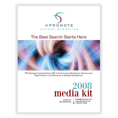Media Kit Cover Page Print Or Packaging Design Contest
