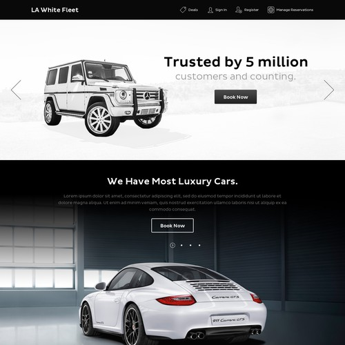 Design Website For Luxury Car Rental Site Web Page Design Contest