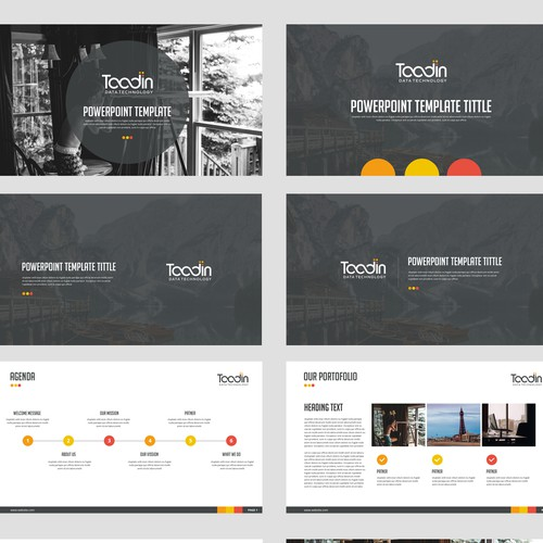 Inspiring PowerPoint template Contests - 99designs