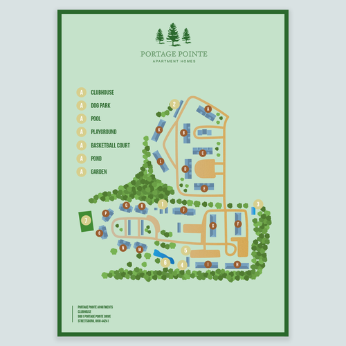 Portage Pointe Apartments: Design A Sight Map For An Apartment Community