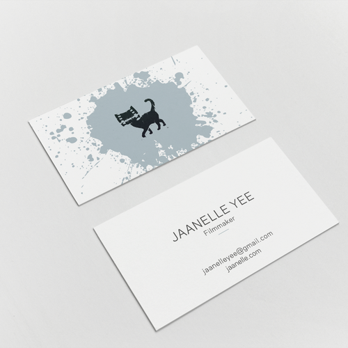 Design a bold spunky business card for an indie filmmaker runner up design by hypdesign colourmoves