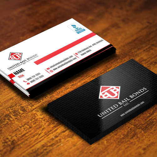 Creative eye catching business card design for bail bonds company runner up design by ifranciskovic024 colourmoves
