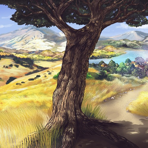 Book cover for children's fantasy novel based in the CA countryside Design by RVST®