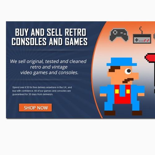 ASAP : Design a banner for retro gaming site! | Banner ad
