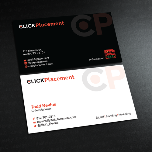 Digital marketing agency business card for founder chief marketer entries from this contest colourmoves