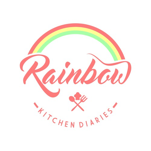Create an elegant rainbow based logo for new food blog for Create blog logo