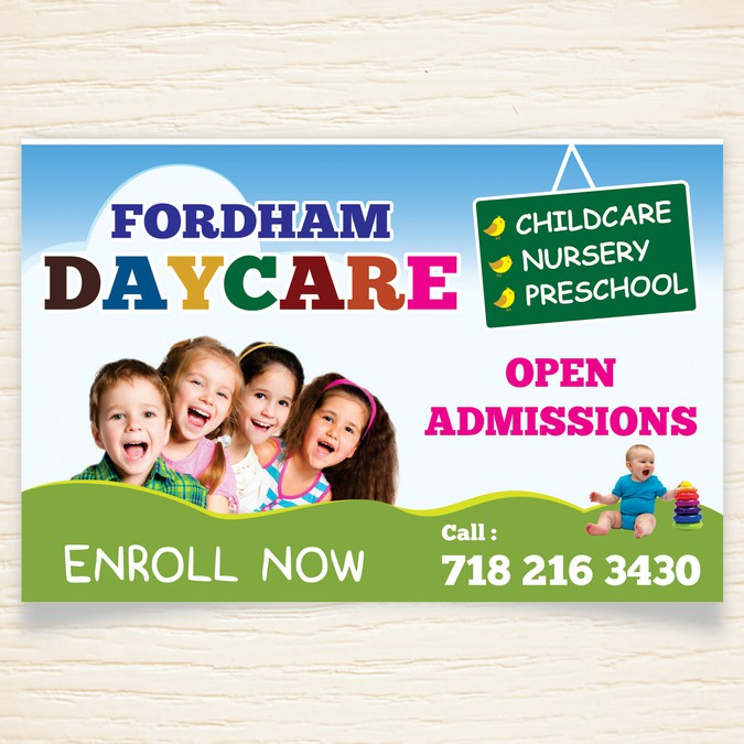 Design A Banner For A New Daycare
