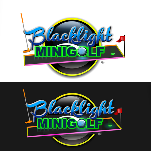 New Logo Wanted For Blacklight Mini Golf Logo Design Contest 99designs