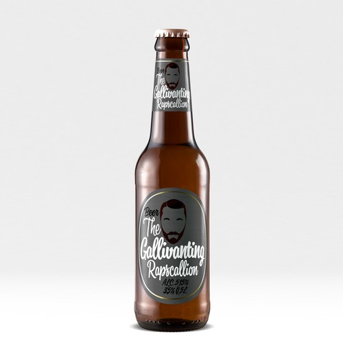 """The Gallivanting Rapscallion"" beer bottle label... Ontwerp door Karma®"