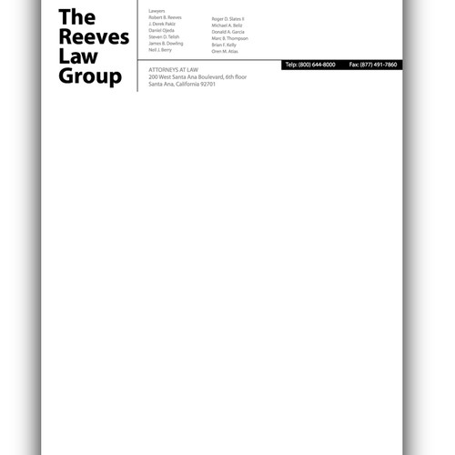 law firm letterhead design