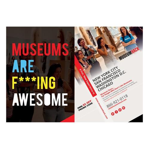 Design a postcard for a $2 million+ renegade museum tour company Diseño de FuturisticBug
