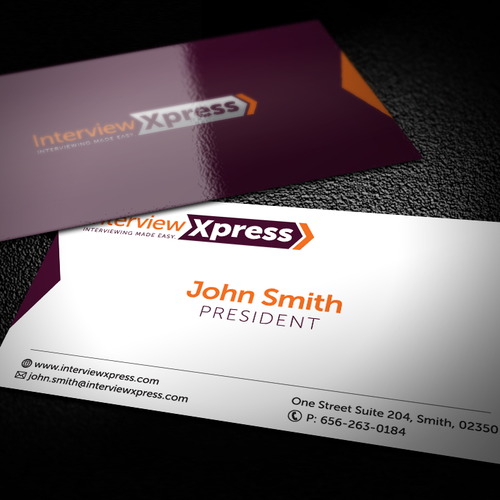 Interview xpress needs a new logo and business card logo runner up design by roa designs reheart Images