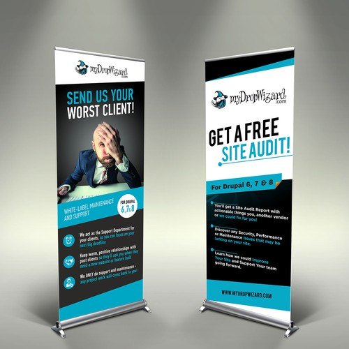 "Create An Awesome VERTICAL BANNER (""FREE Site Audit"") For"