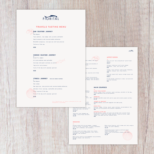 Restyling restaurant menu | Menu contest