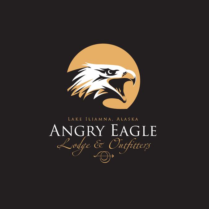 new angry eagle cap logo ロゴデザインコンペ