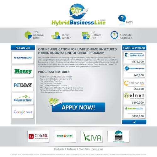 Hybridbusinessline Com Simple Home Page Design Web Page Design Contest 99designs