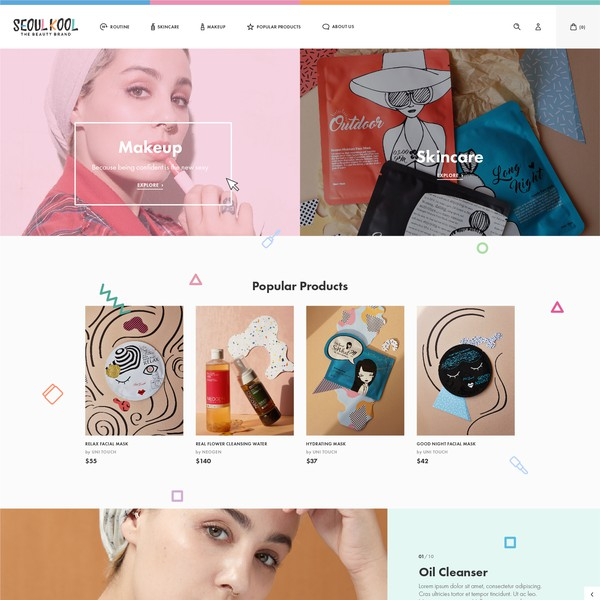 Korean Skincare Store Needs A Kickass Website Web Page Design Contest 99designs