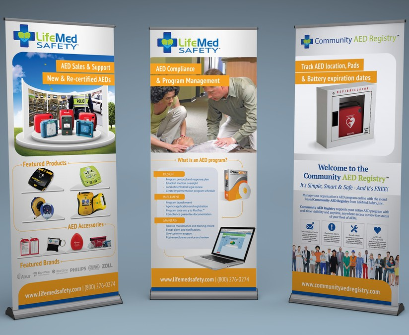 Create Impactful Pull-up Banners for Life-Saving Company