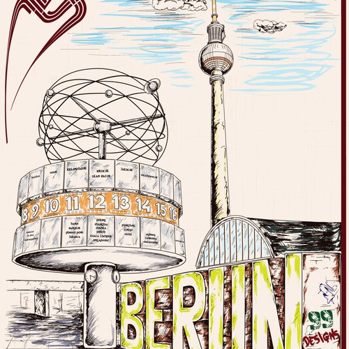 99designs Community Contest: Create a great poster for 99designs' new Berlin office (multiple winners) Design por FehaNS
