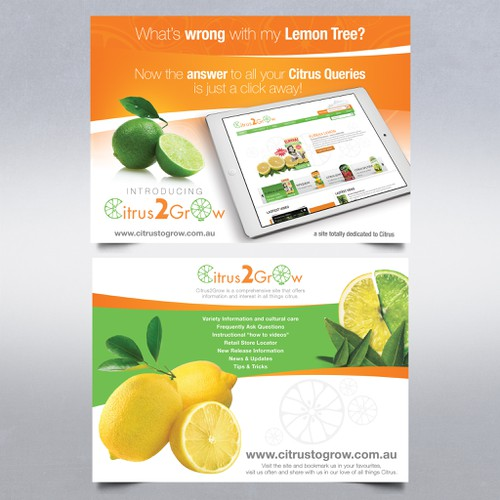 Citrus Site needs eye catching Promotional Post Card with zest and zing Ontwerp door Stanojevic