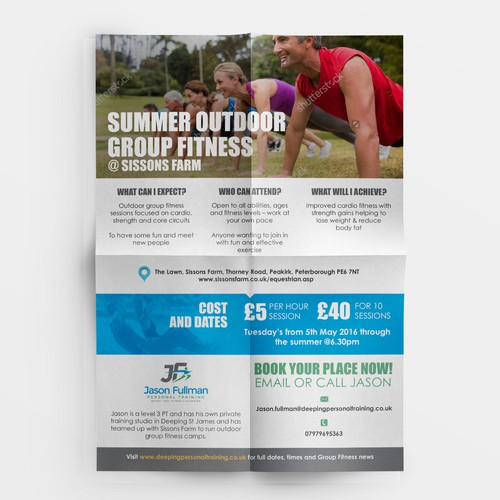 group fitness design appealing and creative group fitness bootcamp flyer for