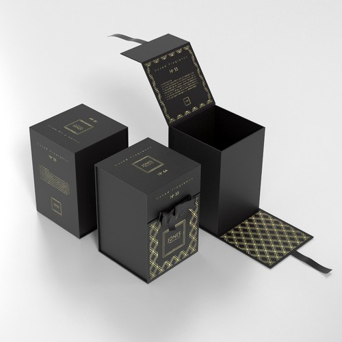 Luxurious, high-end soy candle packaging. simple, elegant ...