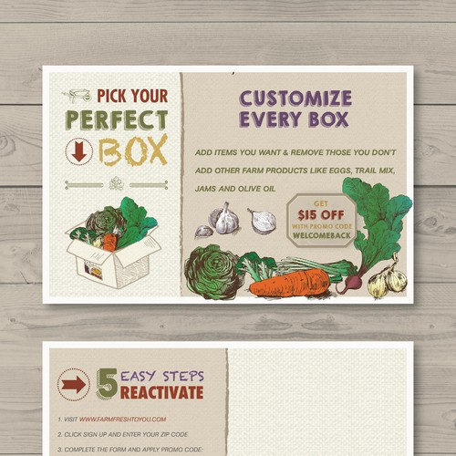 Create a Farm Delivery Postcard Diseño de afc81