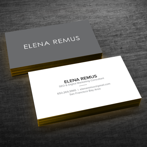 Business card for a digital marketing consultant business card contest runner up design by designc colourmoves