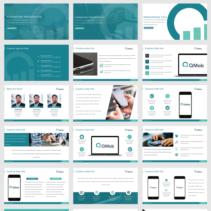 Powerful Powerpoint Templates Free: QMob Wants A Powerful PowerPoint Template