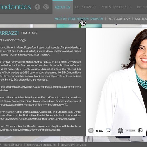 Website Design For Hip And Modern Website For Brickell Periodontics In Miami Florida Web Page Design Contest 99designs