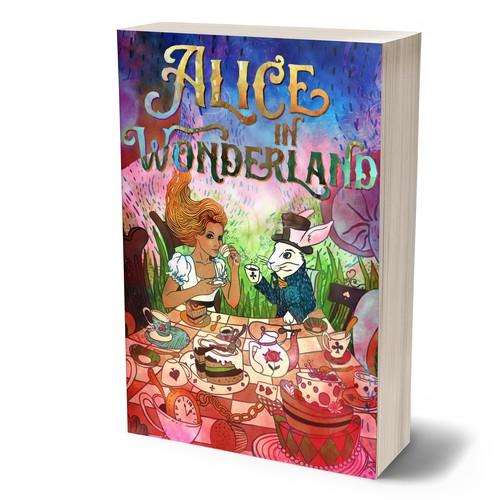 Alice In Wonderland Book Cover Ideas : Design a striking new book cover for alice in wonderland