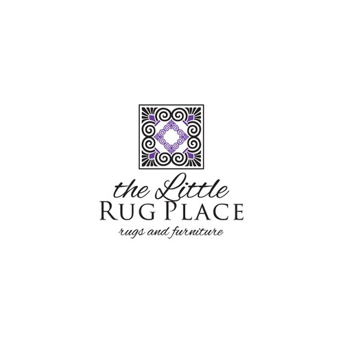 business card for the little rug place
