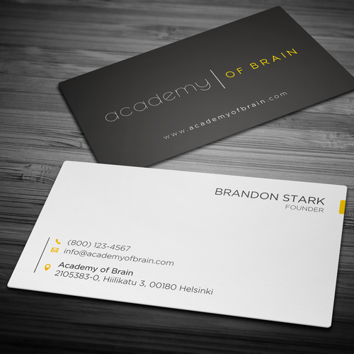 Academy of brain needs new business cards business card contest runner up design by hypdesign reheart Choice Image