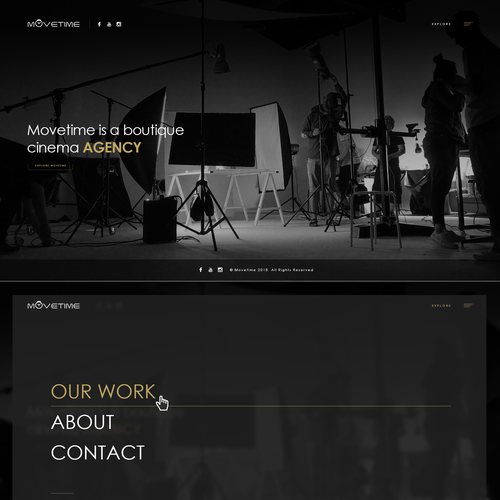 Video Production Company Website // Simplistic Design Design by Web2byte