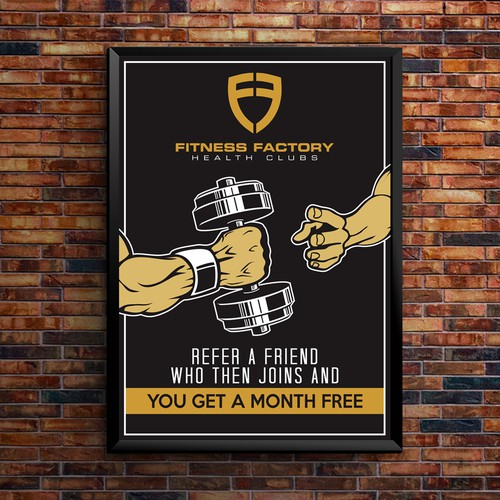 Gym Special Poster - Slight grungy, vector shading style