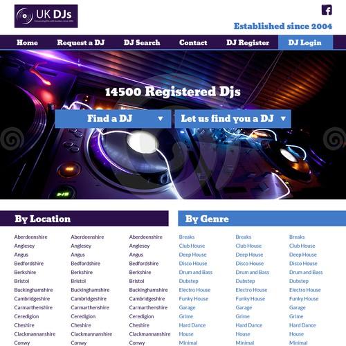 Ontwerp van finalist violetaweb