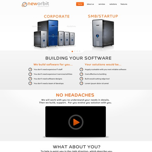 Runner-up design by littlerobotwebdesign