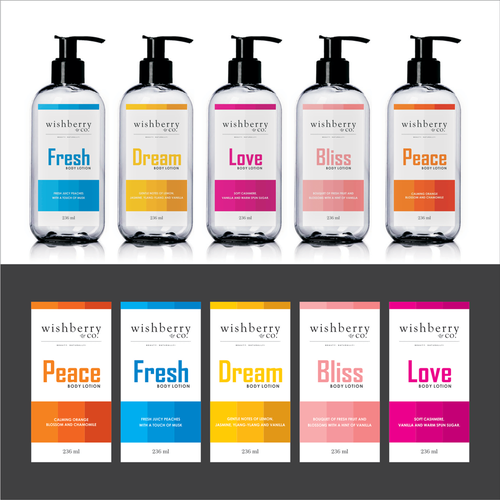 Wishberry & Co - Bath and Body Care Line Design by Shaan khan
