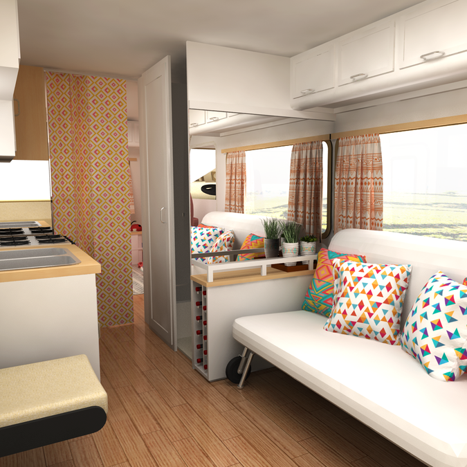 3d photo realistic images (interior and exterior) for RV