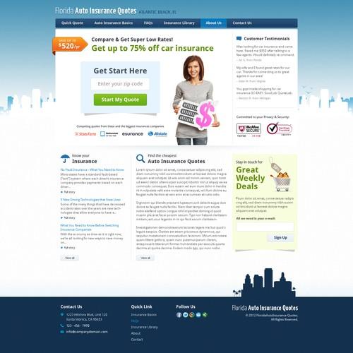 Create The Next Website Design For Florida Auto Insurance Quotes Web Page Design Contest 99designs