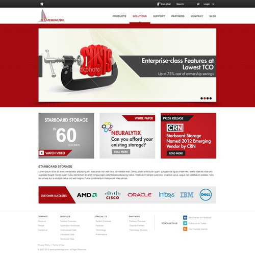 Website Design For Starboard Storage Systems Young Technology Data Storage Company Seeks A Fresh New Web Design Web Page Design Contest 99designs