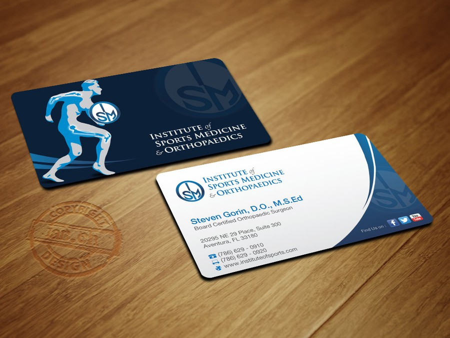 Orthopaedic surgeon in need of an updated business card stat winning design by whte drgon colourmoves