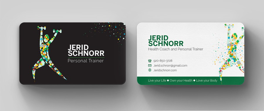 Personal Trainer Business Card Gewinner Design Von Kendhie