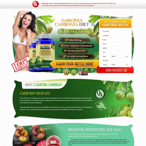 Garcinia Cambogia Diet Landing Page Design Landing Page Design Contest 99designs,Creative Workstation Design